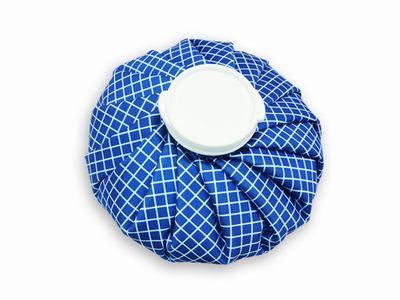 REXICARE  ICE/HOT BAG (DARK BLUE WITH WHITE CHECKERS)